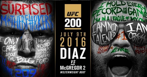 Nate Diaz vs Conor McGregor UFC 200