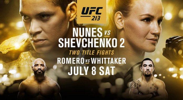 UFC 213 Nunes vs Shevchenko